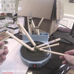 Putting-a-slab-on-the-dop-stick