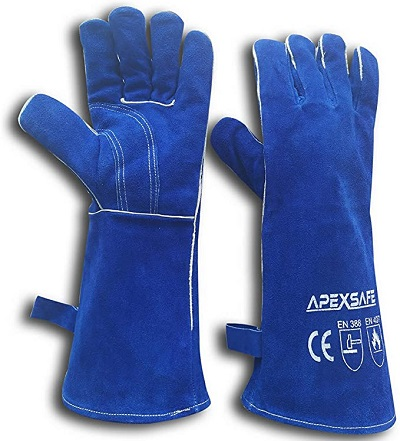 APEXSAFE High Heat Fire Resistant Leather Forging Gloves