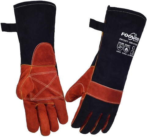 FOOWOO 16 inches Cowhide Leather Gloves