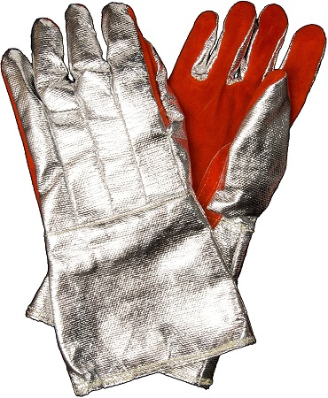 Newtex Z-Flex Aluminized Leather Radiant Heat Protection High-Temperature Gloves