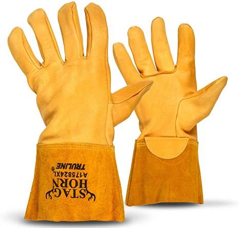 TRULINE Staghorn Premium Deerskin Leather Work Gloves
