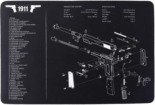 Pinty Handgun Cleaning Mat