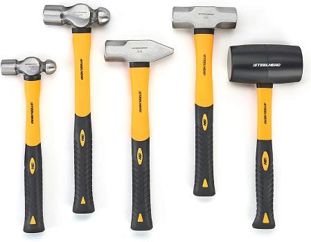 STEELHEAD 5-Piece Fiberglass Handle Hammer & Mallet Set